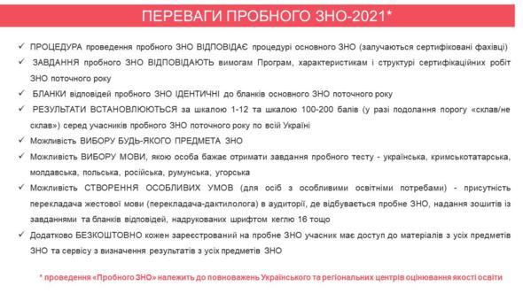 Пробне ЗНО - 2021